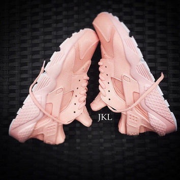 Baby Pink Nike Air Huarache, Baby Pink Sole, Baby Pink Huarache, Unisex Huarache, Unisex Baby Pink Huarache, Nike Huarache Pink, Rosa Nike.
