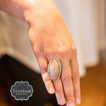 Blush Marquis Ring