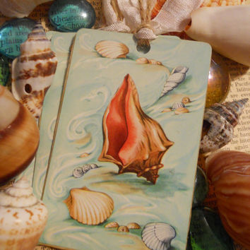 20 Enchanting Sea Shell Tags for Favors Beach by ZoeAmaris on Etsy