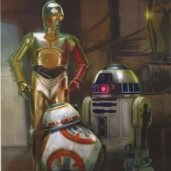 Star Wars Force Awakens Droids Poster 22x34
