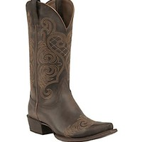 Ariat Old West Brown Bright Lights Snip Toe Western Boot