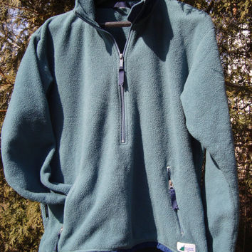 Vintage MEC Mountain Equipment Co op 90s Fleece Spruce Green