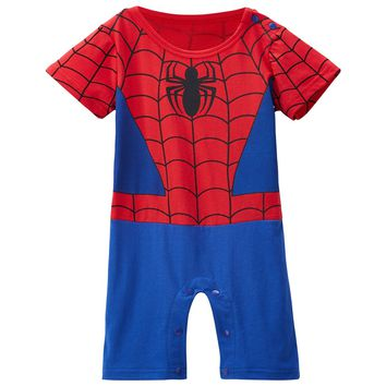 Baby Boys Girls Spiderman Costume Newborn Avengers Romper Toddler Party Playsuit Superhero Cosplay Jumpsuit Infant boy clothing