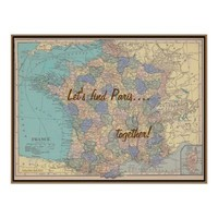 Finding Paris Together Poster from Zazzle.com