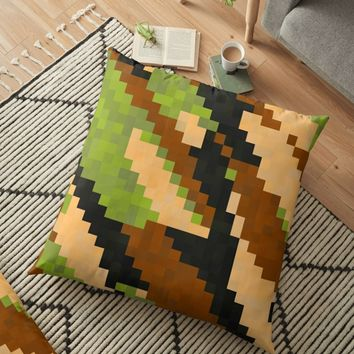 'Pixelated Camo' Floor Pillow by Christy Leigh