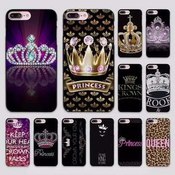 PRINCESS Queen boss crown king 1 design hard black Case Cover for Apple iPhone 7 6 6s Plus SE 5 5s 5c 4 4s