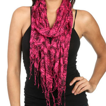 Mod Roses Scarf | Shop Accessories at Wet Seal