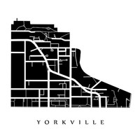 Yorkville Map - Toronto Neighbourhood Art Print