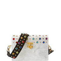 Edie Parker Small Trunk Studded Crossbody Bag