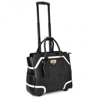 "Cabrelli 16.5"" Women's Rolling Laptop Bag - Color Block Rollerbrief - Laptop Bags"