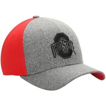 Ohio State Buckeyes Nike Jersey Color Blocked Swoosh Performance Flex Hat - Gray/Scarlet