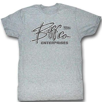 BTF Biff Co Gray Heather Back To The Future Tee Shirt