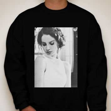Lana Del Rey Black and White Crewneck Sweatshirt
