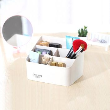 Mini 5 Grids Desk Storage Office Organizer Box Case Cosmetic Organizer Holder
