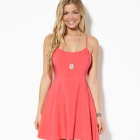 AE Cutout Back Sundress, Coral | American Eagle Outfitters