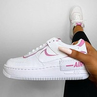 Nike Air Force 1 Shadow Women Casual Sport Running Shoes Sneakers White&Pink
