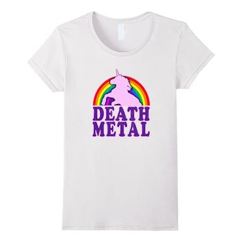 Funny! Death Metal Unicorn (vintage distressed) T-Shirt