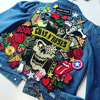 NEW Rock Guns and Roses Denim Jacket