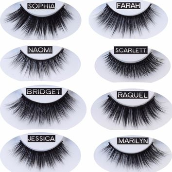 Visofree Faux Mink Eyelashes 3D Soft Makeup Eye Lashes Handmade False Mink Eyelashes Natual Long Mink Eyelashes Extension Faux