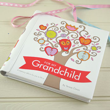 'For My Grandchild' A Baby Memory Book