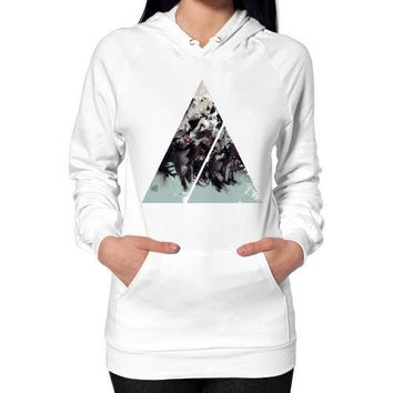 Geometric Conversation Hoodie (on woman)