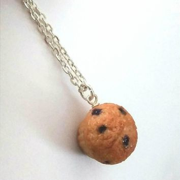 Blueberry Muffin Miniature Food Necklace, Kitschy & Cute!