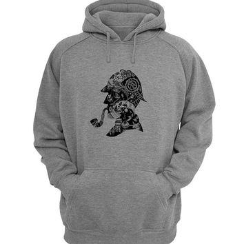 sherlock holmes logo Hoodie Sweatshirt Sweater Shirt Gray for Unisex size with variant colour