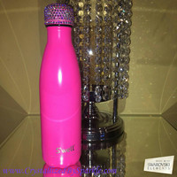 Gorgeous Swarovski Crystal Bling Bling S'Well Water Bottle (17 oz Capacity)