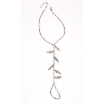 Shiny Jewelry Sexy New Arrival Gift Cute Ladies Accessory Hot Sale Simple Design Stylish Beach Casual Leaf Tassels Anklet [521516875830]