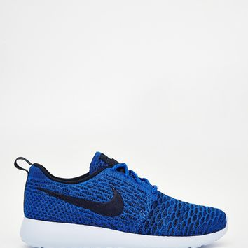 Nike Roshe Run Flyknit Blue Trainers