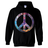 Space Galaxy Peace Sign Sweatshirt Hoodie