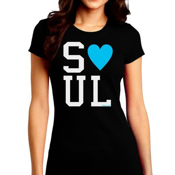 Matching Soulmate Design - Soul - Blue Juniors Crew Dark T-Shirt by TooLoud