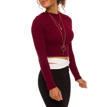 Blank Space Basic Top - Red