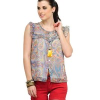Abagael Printed Top - Multicolor Online Shopping | 8694