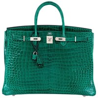Hermes Birkin Bag 40cm Vert Emerald Porosus Crocodile Impossible Find