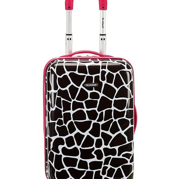 "F191-PINKGIRAFFE 20"" Polycarbonate Carry On Luggage Set"
