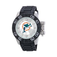 Game Time Beast Series Miami Dolphins Stainless Steel Watch - NFL-BEA-MIA - Men (Black)