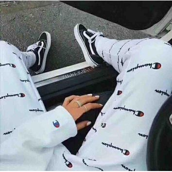 Champion Fashion Print Sport Stretch Pants Trousers Sweatpants