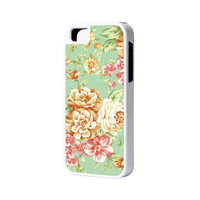 Floral Pattern iPhone 6 Plus 6 5S 5 5C 4 Rubber Case