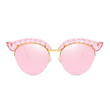 The Luxury Kitty Pearls Sunglasses Pink