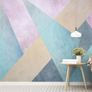 Custom Photo Mural Nordic Simple Personality Abstract Geometric Square Living Room Sofa Background Non-woven Wallpaper Mural