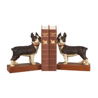 Pair Boston Terrier Bookends