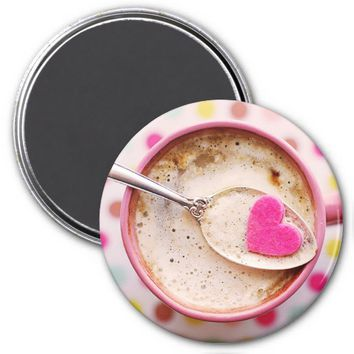 Candy heart coffee magnet