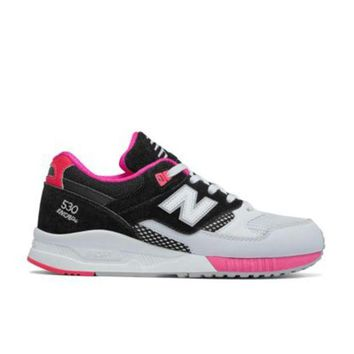 DCCK1IN new balance 530 90s running leather w530swc black white bright cherry