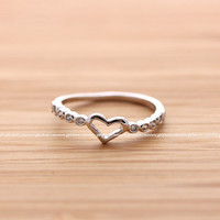 girlsluv.it - HEART ring with crystals decorated, 3 colors