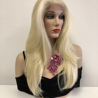 Lightest Blond Hair 6x6 Multi Parting Swiss Lace Front Wig | Long Volume Loose Curl | Nashville
