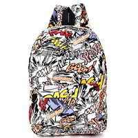 Hippie 2016 Canvas Backpacks Student School Bag Cartoon Print Rucksack Outdoor Travel Pack Laptop Graffiti Bolsa Mochila XA1065C