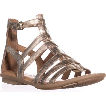 Born Tripoli Flat Gladiator Comfrot Sandals, Gold, 10 US