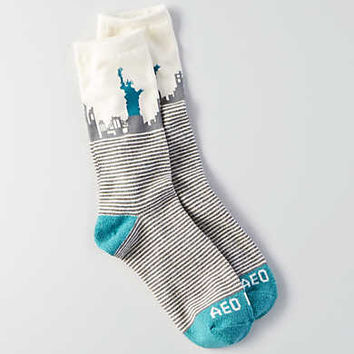 AEO Liberty Crew Socks , Cream