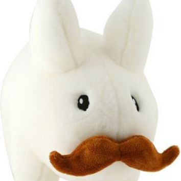 "Stache Labbit White 14"" Stuffed Animal Plush"